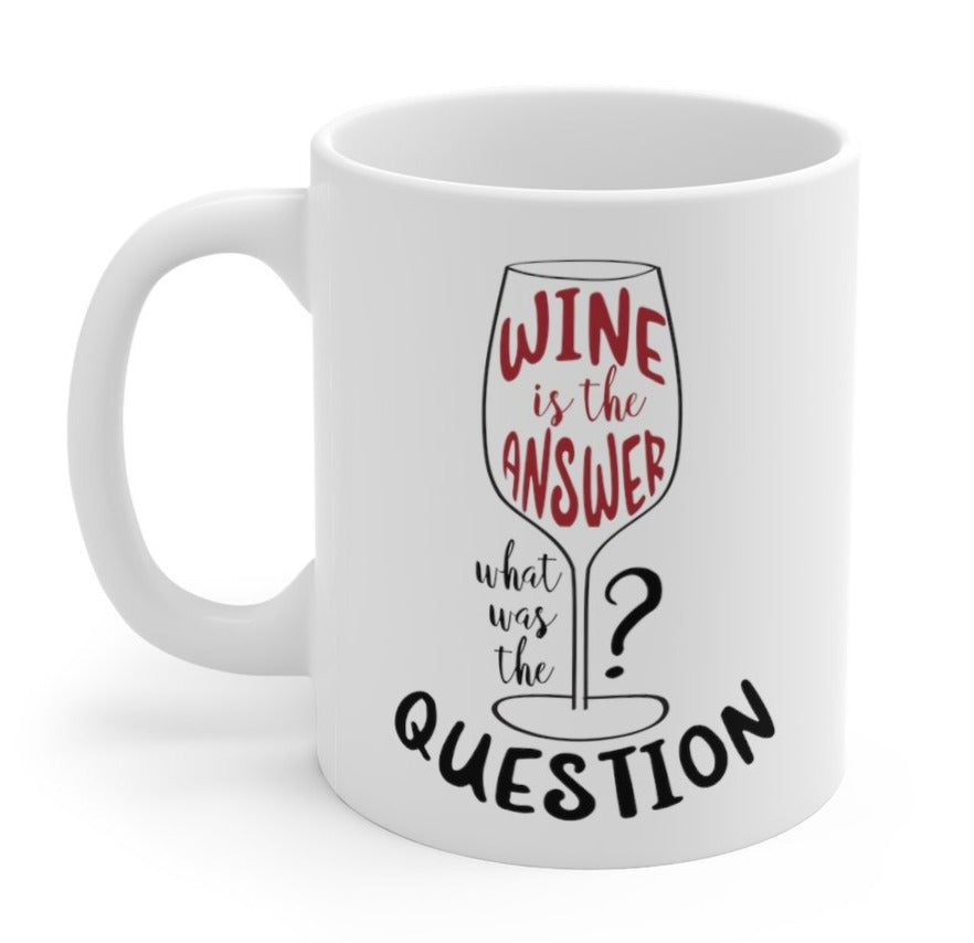 Wine is the Answer, What Was the Question? Mug