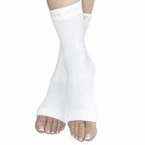 NuNu White Open Toe Pedicure Socks Size 9-11 - 504 Units
