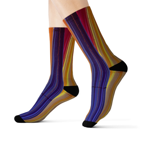 Colorful Striped Fun Novelty Socks