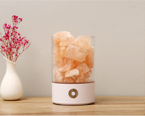 Night Light Natural Himalayan Salt Lamp Air Purifier USB