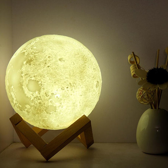 Touch Control 16 Colors Moon Lamp with Remote Control