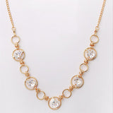 Mika Gold Swarovski Crystals Necklace