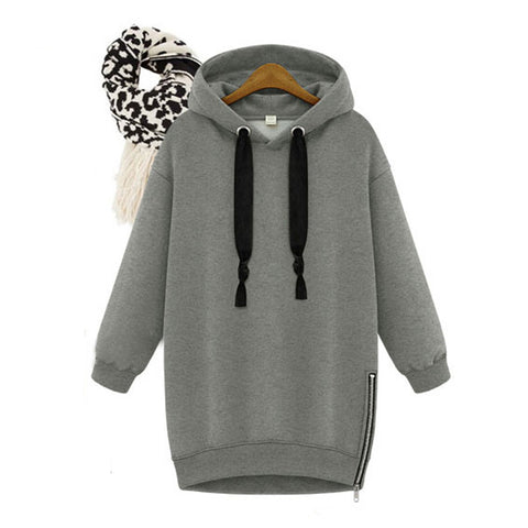 Womens Hoodie with Side Slits