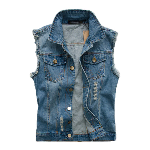 Mens Street Style Jeans Vest
