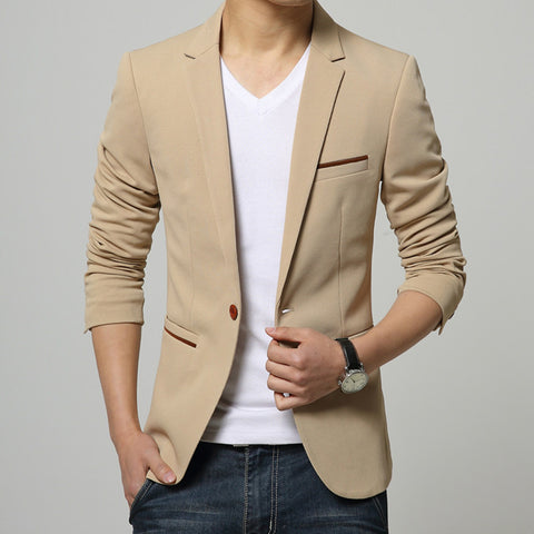 Mens One Button Blazer