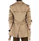Mens Classic Double Breasted Trench Coat