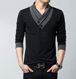 Mens Street Style Long Sleeve Top
