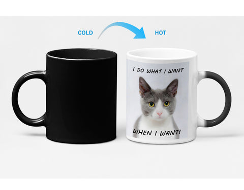 Bossy Kitten Heat Sensitive Color Changing Coffee Mug