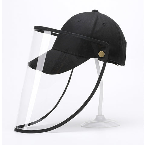 Baseball Cap with Detachable Front Panel