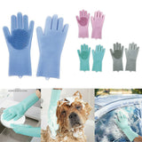 Silicon Scrubbing Multi-Function Cleaning Gloves