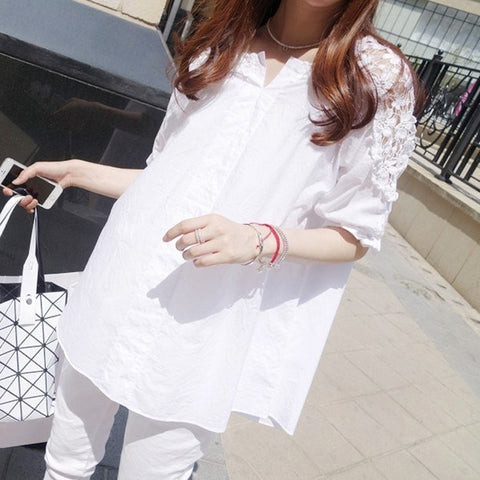 Street Style Summer Lace Sleeve Blouse