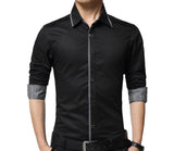 Mens Shirt with Layered Shoulder Details