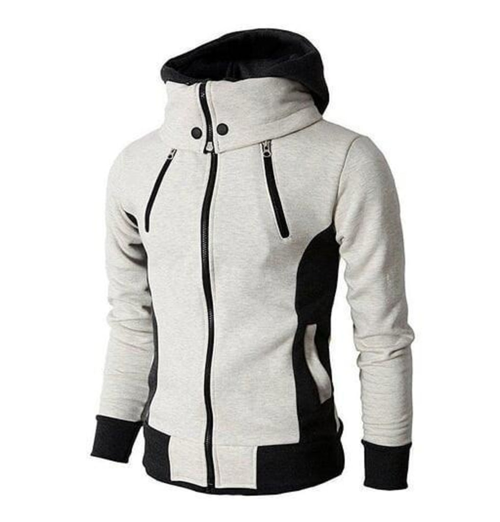 Mens High Collar Windproof Hoodie