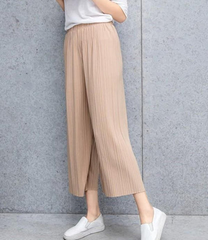 Womens Flowy Chiffon Wide Leg Pants