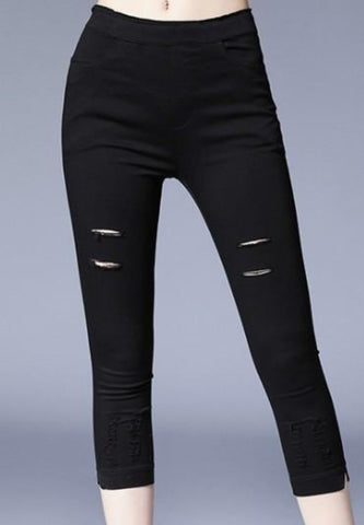 Ripped Crop Leggings