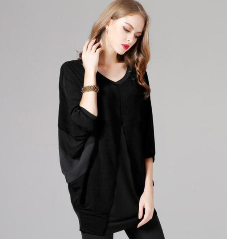 Womens Wide Neck Batwing Top