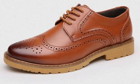 Mens Lace Up Business Casual Oxford Shoes