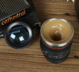 Creative Self Stirring Coffee Mug with Camera Lens Design