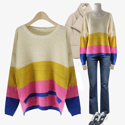 Women's Color Block Knit Sweater