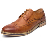 Mens British Style Lace Up Oxford Shoes