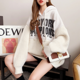 Womens Hooded Batwing Sweater