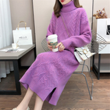 Womens Cable Knit Long Dress