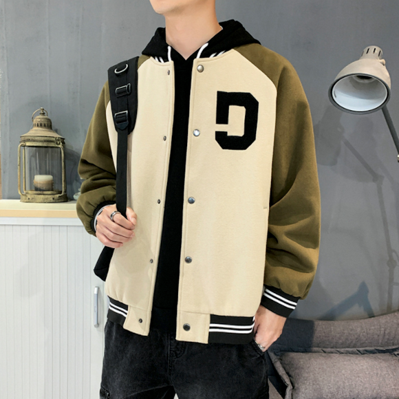 Mens Two Tones Letterman Jacket