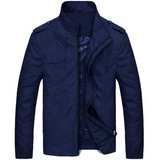 Mens Stand Collar Zipper Jacket