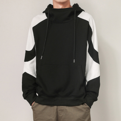 Mens Two Tones Pull Over Hoodie