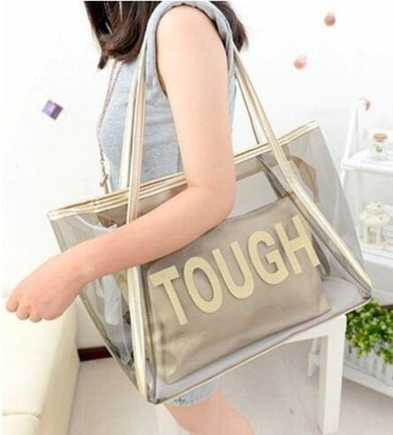 Clear Tote Bag with Detachable Inner Bag