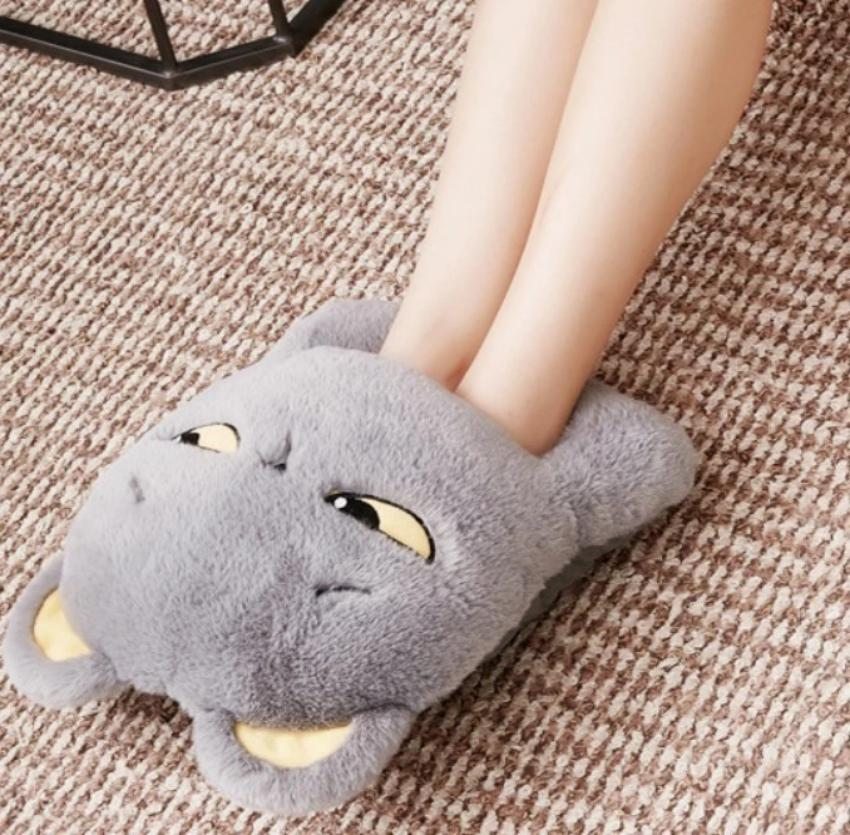 USB Cute Cat Face USB Feet Warmer for Winter