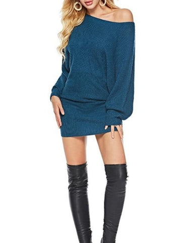 Womens Batwing Mid Length Sweater