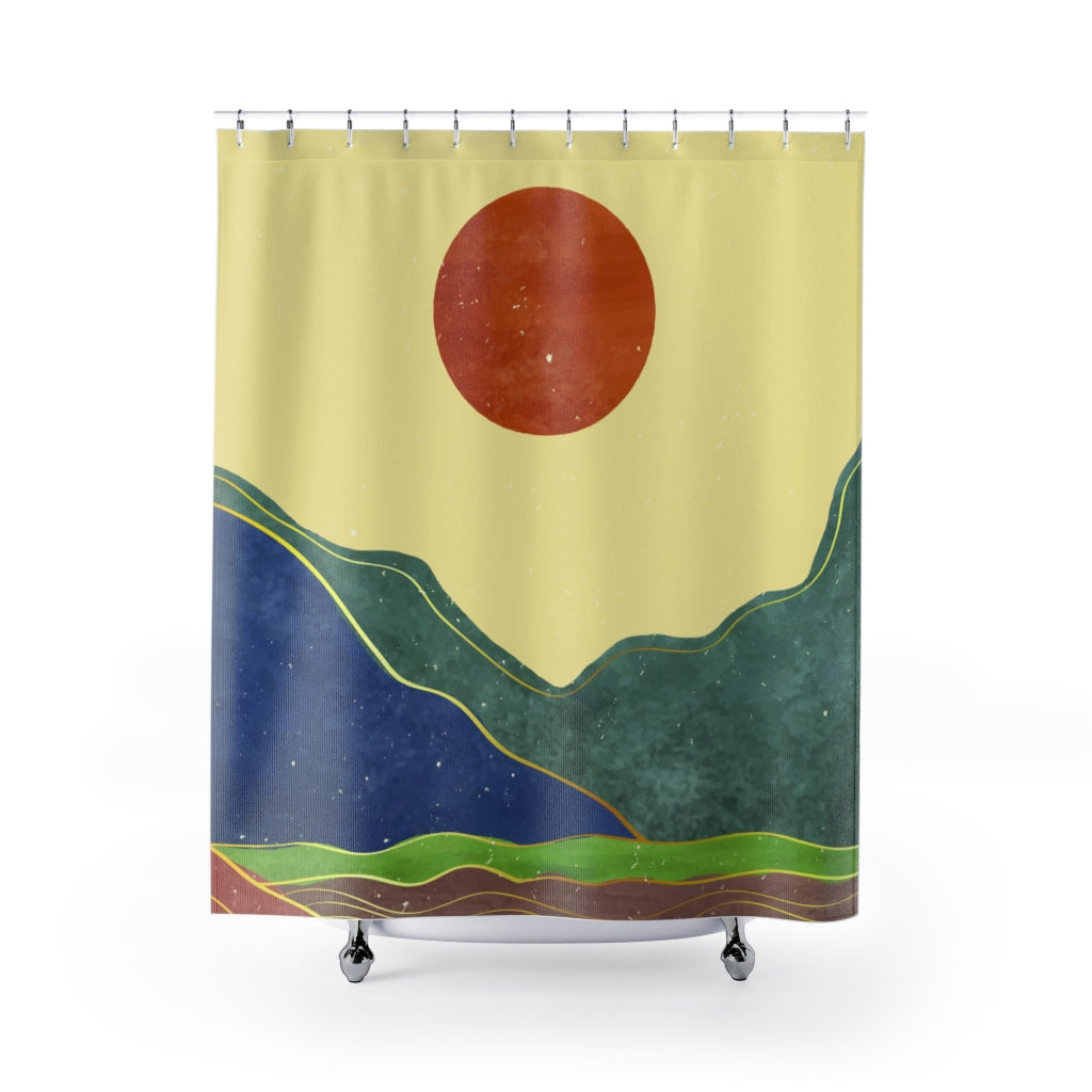 California Sun Shower Curtains