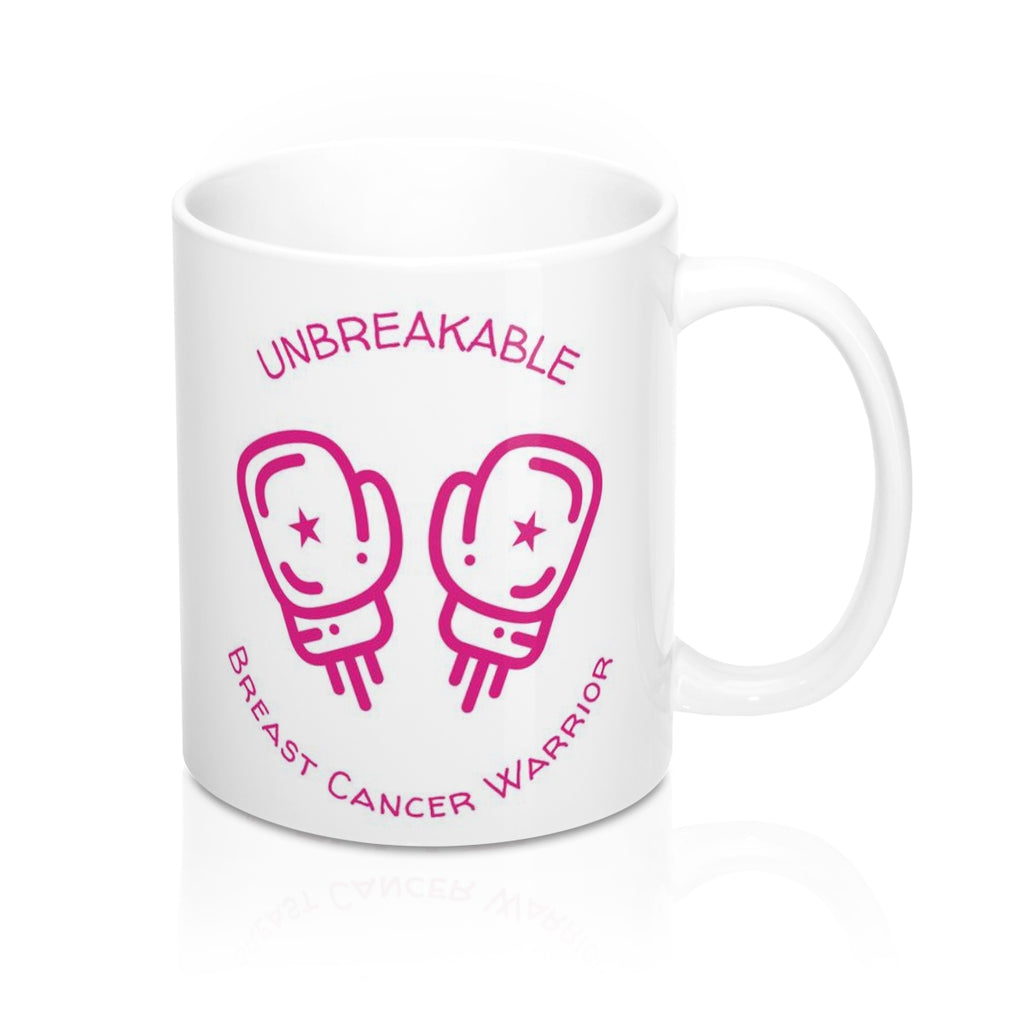 Unbreakable Breast Cancer Survivor Mug 11oz