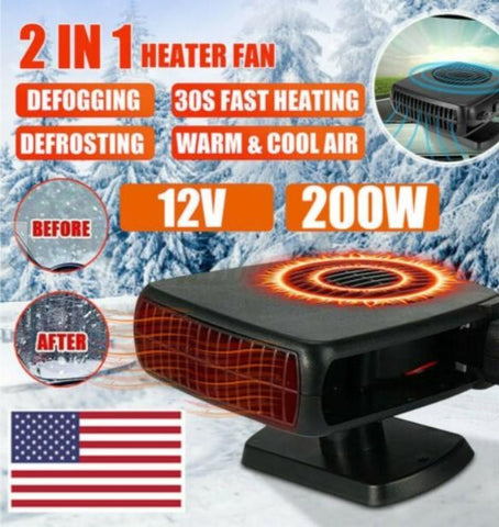 Powerful 200W 2 in 1 Car Heater Windshield Defroster