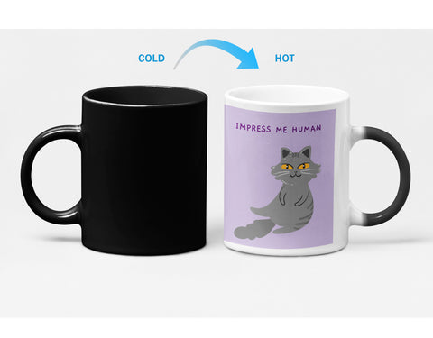 Bossy Cat Theme Heat Sensitive Color Changing Mug