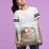Cat is Always Right Square Pillow - 4 Sizes