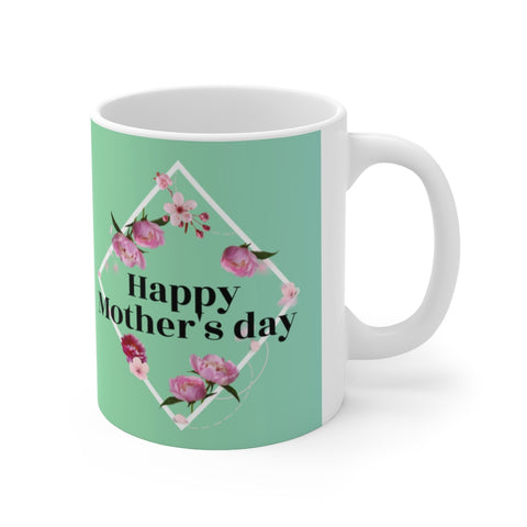 Happy Mother's Day Peony Theme Mug 11oz