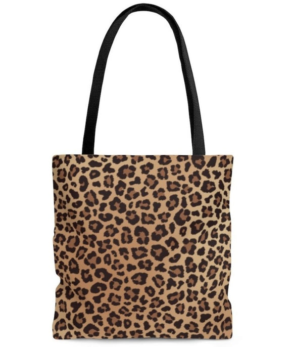 Coseey Leopard Print Animal Tote Bag