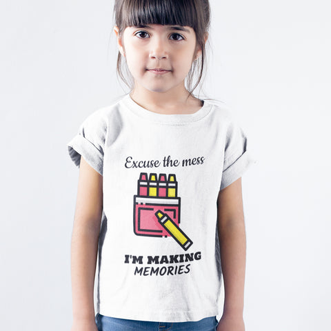 Kids Girls Excuse the Mess T-Shirt