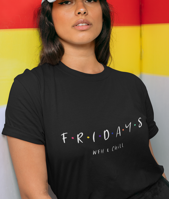 Womens Friday Work From Home & Chill Jersey Short Sleeve Tee