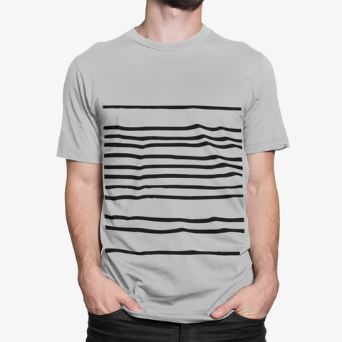 Mens T-Shirt with Horizontal Lines
