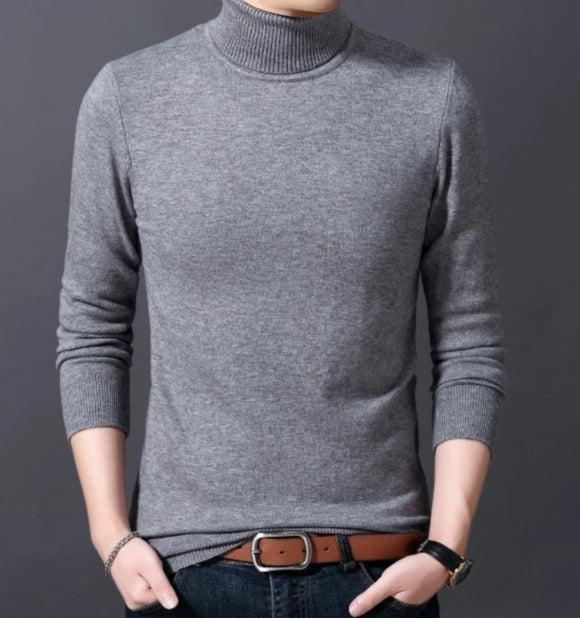 Mens Slim Fit Turtle Neck Sweater