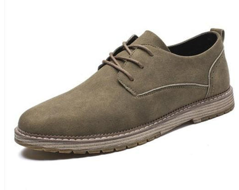 Mens Faux Suede Casual Lace Up Shoes