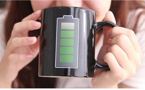 Magical Heat Sensitive Color Changing Battery Meter Coffee Mug