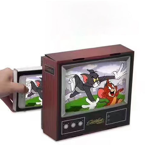 Retro TV Mobile Phone Screen Magnifier