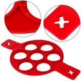 Non-Stick Silicone Pancake and Egg Mold ( 3 pcs set)