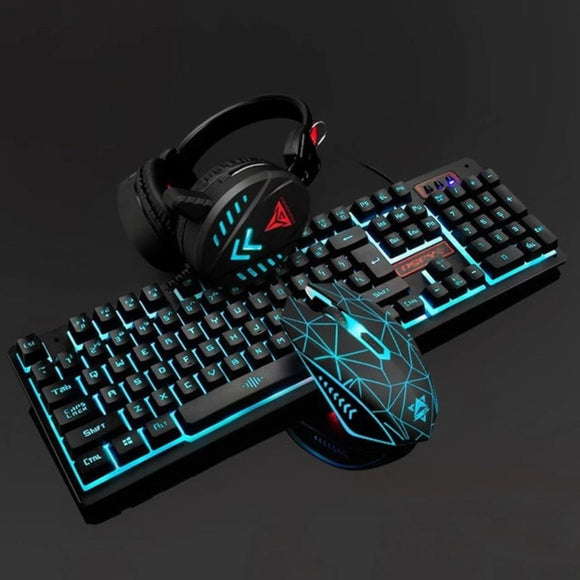 Ninja Dragons VX7 Waterproof Gaming Keyboard Set with Gaming Headset and Gaming Mouse