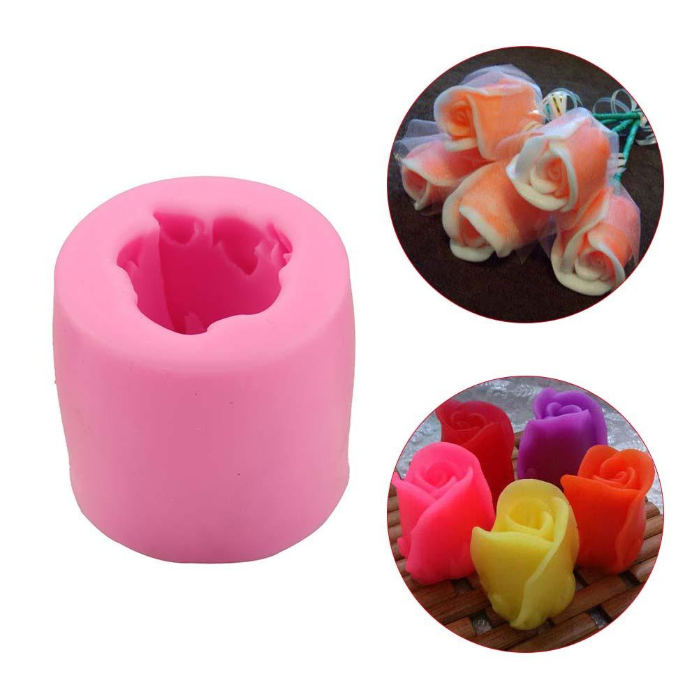 DIY Decoration Rose Shaped Silicone Baking Mold 3 Units Set