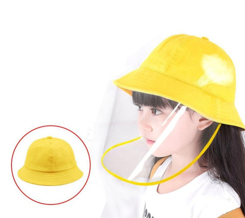 Children's Bucket Hat with Detachable Front Panel